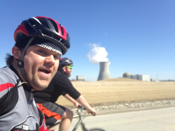 Riding near the nuclear power plant