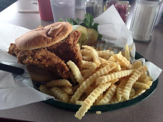 hand-breaded pork tenderloin sandwich