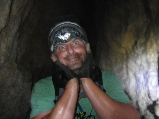 BVW in the cave at Thunder Rolls AR