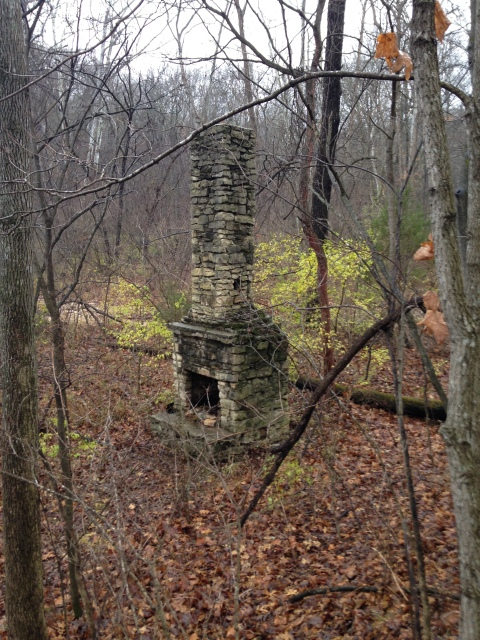 old abandoned chimney