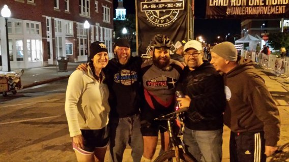 Team Virtus at the finish of the 2016 Land Run 100